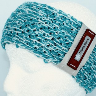 Headband : Turquoise and white