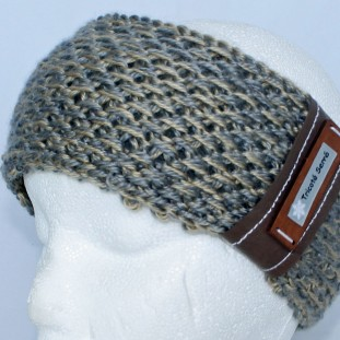 Headband : Grey and gold