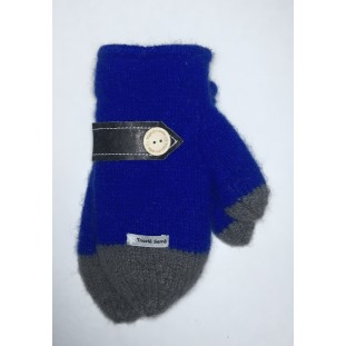 Mittens : Royal blue and grey