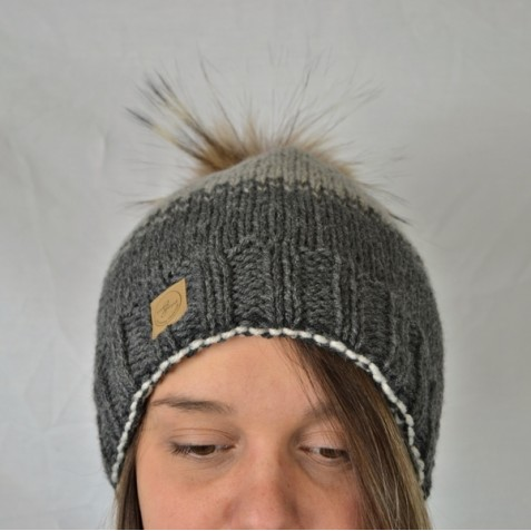 Toque : charcoal and grey